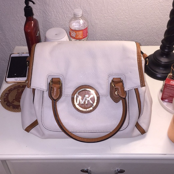 95afc76c92e8 Michael Kors Bags | Off White And Brown Mk Purse | Poshmark